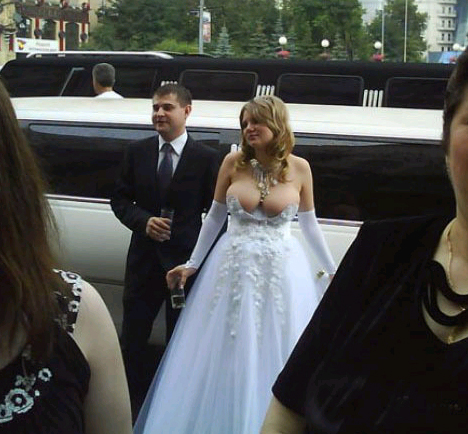 SUPER slutty wedding dress Whoooooa