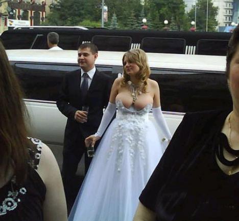 SUPER slutty wedding dress Whoooooa