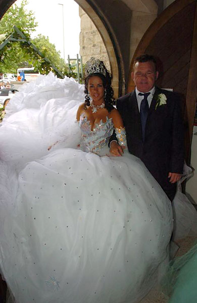 gipsy wedding dress. The dress is