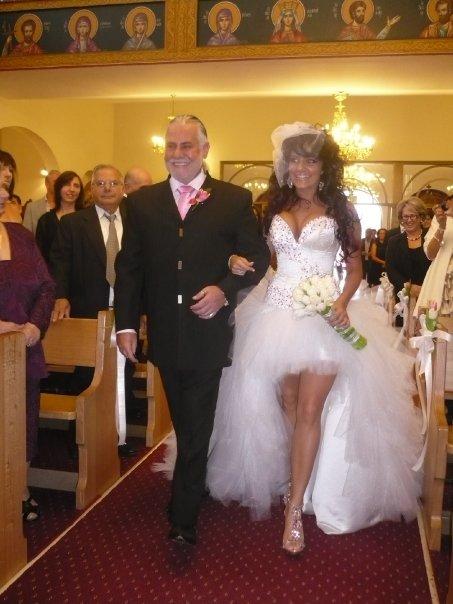 Sluty White Wedding Dress