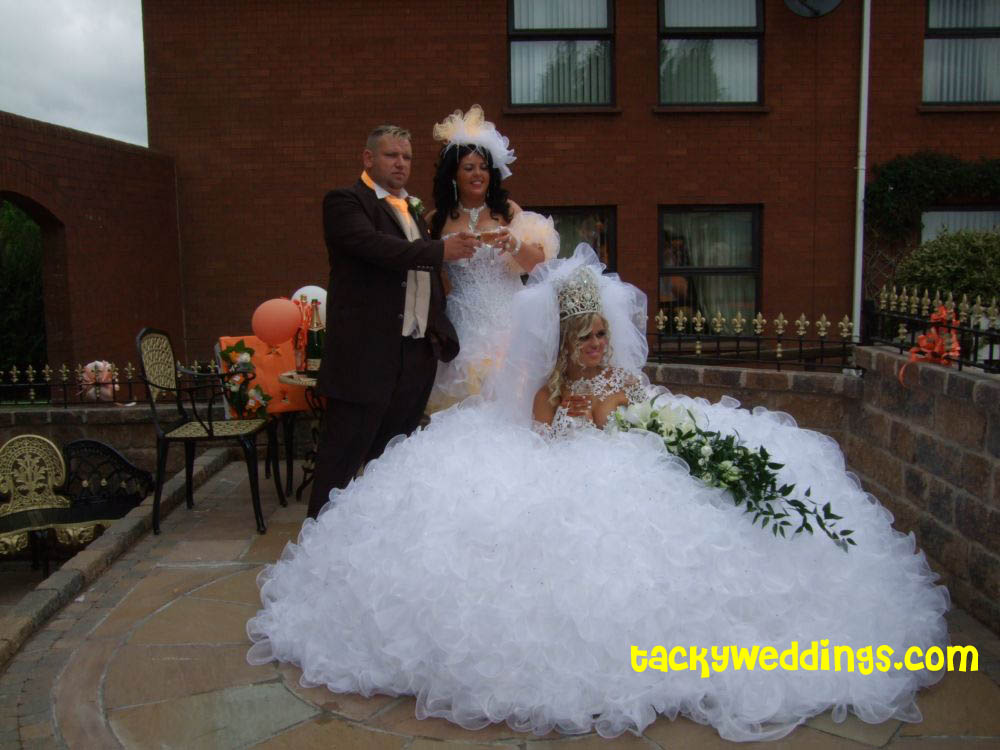 tacky wedding dress. Tacky Wedding All-Star: