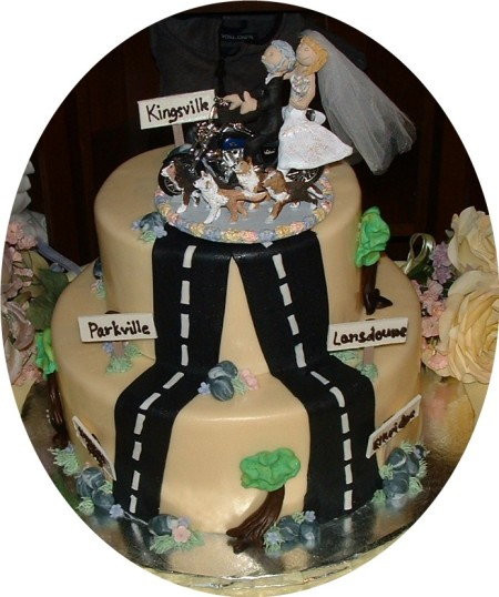 harley+riders+wedding+cake+topper