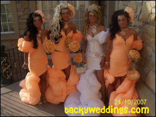 tacky bridesmaids dresses